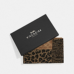 COACH F39412 - BOXED REVERSIBLE ANIMAL SIGNATURE MUFFLER NATURAL