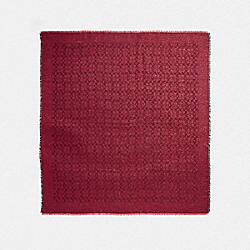 COACH F39414 Signature Lurex Oversized Square RUBY
