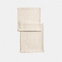 METALLIC SIGNATURE WRAP - PLATINUM - COACH F39425