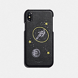 IPHONE X/XS CASE WITH GLOW IN THE DARK PATCH - F39432 - BLACK MULTICOLOR