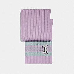 SELENA KNIT SCARF WITH BUNNY - F39434 - LILAC