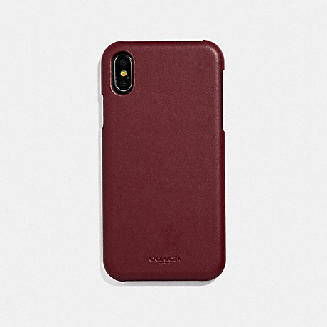 COACH IPHONE XR CASE - RED CURRANT - F39450
