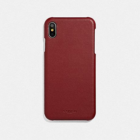 COACH IPHONE XS MAX CASE - RED CURRANT - F39451DE3