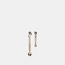 COACH F39461 Tea Rose Drop Earrings SV/ROSE