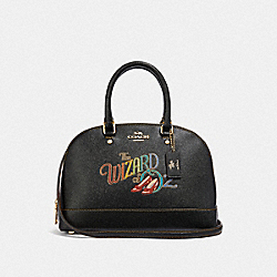 COACH F39464 Mini Sierra Satchel With Wizard Of Oz BLACK/MULTI/LIGHT GOLD