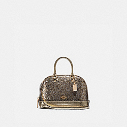 WIZARD OF OZ GLITTER MICRO MINI SIERRA SATCHEL - F39497 - GOLD/LIGHT GOLD