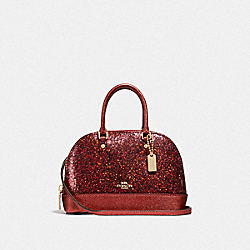 COACH F39497 Wizard Of Oz Glitter Micro Mini Sierra Satchel RUBY/LIGHT GOLD