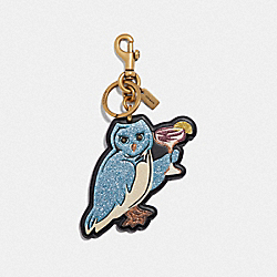 PARTY OWL BAG CHARM - F39499 - LI/BLACK