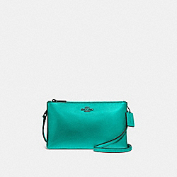 LYLA CROSSBODY - F39505 - METALLIC SEA GREEN