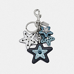 STAR MIX BAG CHARM - F39529 - MIDNIGHT NAVY/SILVER