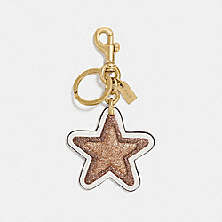 COACH F39534 Glitter Star Bag Charm CHALK/GOLD