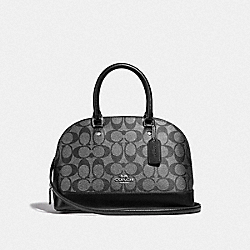 COACH F39556 Mini Sierra Satchel In Signature Canvas GUNMETAL/SILVER