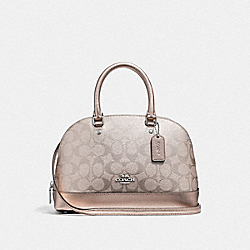 COACH F39556 Mini Sierra Satchel In Signature Canvas PLATINUM/SILVER