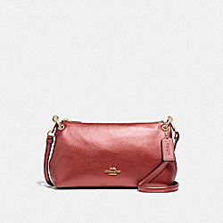 COACH F39591 - CHARLEY CROSSBODY METALLIC CURRANT/LIGHT GOLD