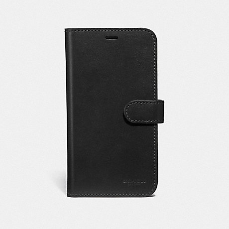 COACH IPHONE X/XS FOLIO - BLACK - F39595
