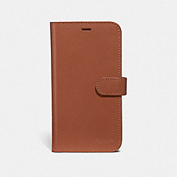 COACH F39595 Iphone X/xs Folio SADDLE