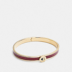 COACH F39599 Iconic Glitter Bangle RED/GOLD