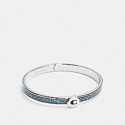 COACH F39599 Iconic Glitter Bangle BLUE/SILVER