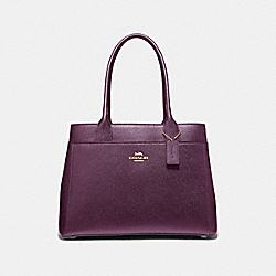 CASEY TOTE - F39600 - METALLIC RASPBERRY/LIGHT GOLD