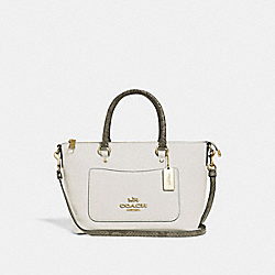 MINI EMMA SATCHEL - F39603 - CHALK/NEUTRAL/LIGHT GOLD