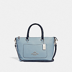 COACH F39603 Mini Emma Satchel CORNFLOWER/MIDNIGHT/SILVER