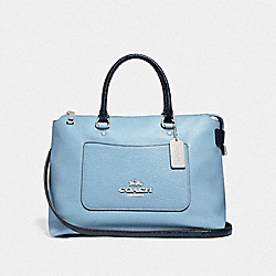 COACH F39604 Emma Satchel CORNFLOWER/MIDNIGHT/SILVER