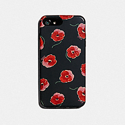 COACH F39614 - IPHONE 7 PLUS/8 PLUS CASE WITH POPPY PRINT BLACK/MULTICOLOR