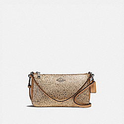 COACH F39656 - TOP HANDLE POUCH WITH STAR GLITTER GOLD/SILVER