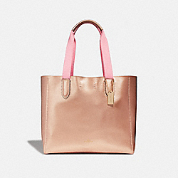 DERBY TOTE - F39675 - ROSE GOLD/LIGHT GOLD