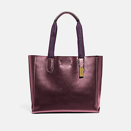 COACH F39675 DERBY TOTE IM/METALLIC-WINE