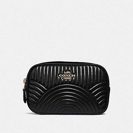 COACH F39685 BELT BAG WITH DECO QUILTING B4/BLACK