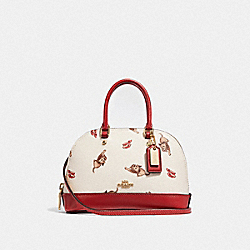 MICRO MINI SIERRA SATCHEL WITH WIZARD OF OZ PRINT - F39701 - CHALK MULTI/LIGHT GOLD