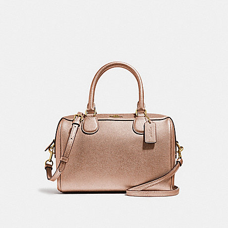 COACH F39706 MINI BENNETT SATCHEL ROSE GOLD/LIGHT GOLD