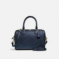 MINI BENNETT SATCHEL - F39706 - METALLIC DENIM/IMITATION GOLD