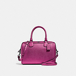 COACH F39706 Mini Bennett Satchel METALLIC MAGENTA/BLACK ANTIQUE NICKEL