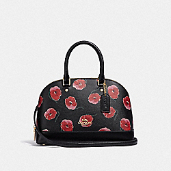 COACH F39710 Mini Sierra Satchel With Poppy Print BLACK/MULTI/LIGHT GOLD