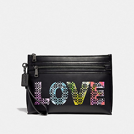COACH F39729 ACADEMY POUCH LOVE BY JASON NAYLOR