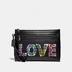 COACH F39729 - ACADEMY POUCH LOVE BY JASON NAYLOR