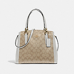 MINETTA CROSSBODY IN SIGNATURE CANVAS - F39741 - LIGHT KHAKI/CHALK/IMITATION GOLD