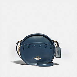 COACH F39752 - CANTEEN CROSSBODY WITH LACQUER RIVETS DENIM/LIGHT GOLD