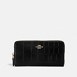 COACH F39767 Accordion Zip Wallet BLACK/IMITATION GOLD