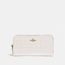 COACH F39767 Accordion Zip Wallet CHALK/IMITATION GOLD