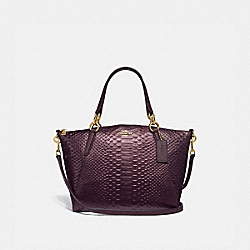 SMALL KELSEY SATCHEL - F39779 - OXBLOOD 1/LIGHT GOLD