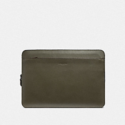COACH F39816 Laptop Case JUNIPER/BLACK ANTIQUE NICKEL