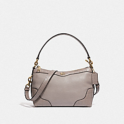 SMALL EAST/WEST IVIE SHOULDER BAG - F39855 - GREY BIRCH/LIGHT GOLD