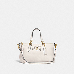 MINI ALLY SATCHEL - F39880 - CHALK/LIGHT GOLD