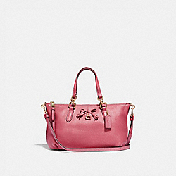 MINI ALLY SATCHEL - F39880 - STRAWBERRY/LIGHT GOLD