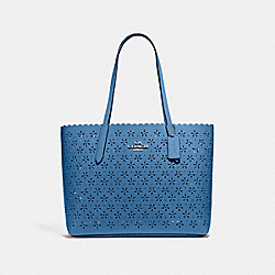 COACH F39894 - AVENUE TOTE SKY BLUE/MIDNIGHT/SILVER