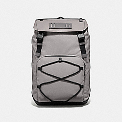 COACH F39945 - TERRAIN ROLL TOP BACKPACK GREY BIRCH/BLACK ANTIQUE NICKEL