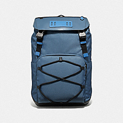 COACH F39945 - TERRAIN ROLL TOP BACKPACK PVD BLUE/BLACK ANTIQUE NICKEL